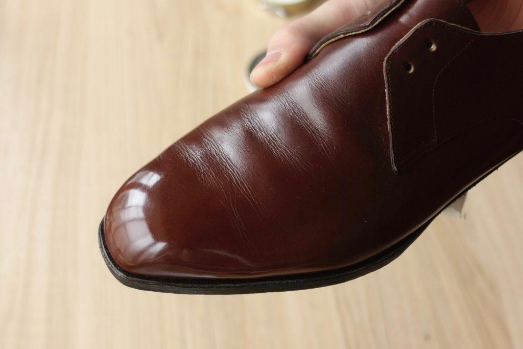 靴 鏡面磨き 失敗