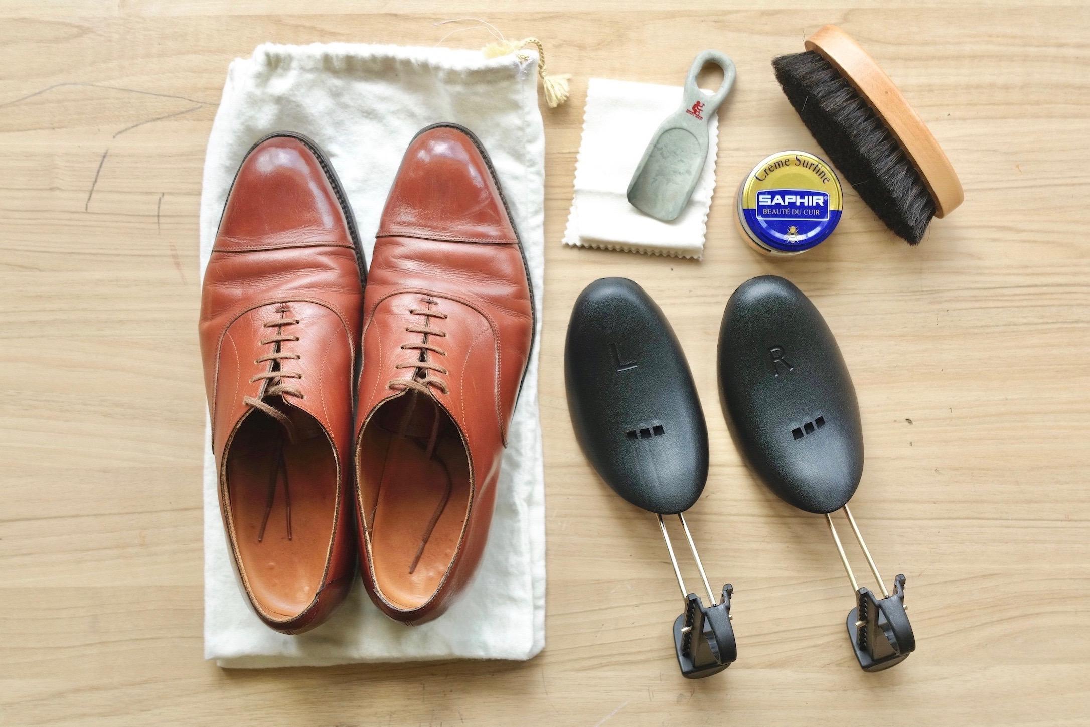 帰省や出張に】私が実践している革靴の持ち運び方と一緒に持って