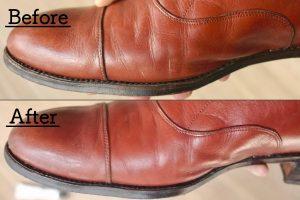 革靴のひび割れをプロ並みに綺麗に補修する方法と、ひび割れ対策