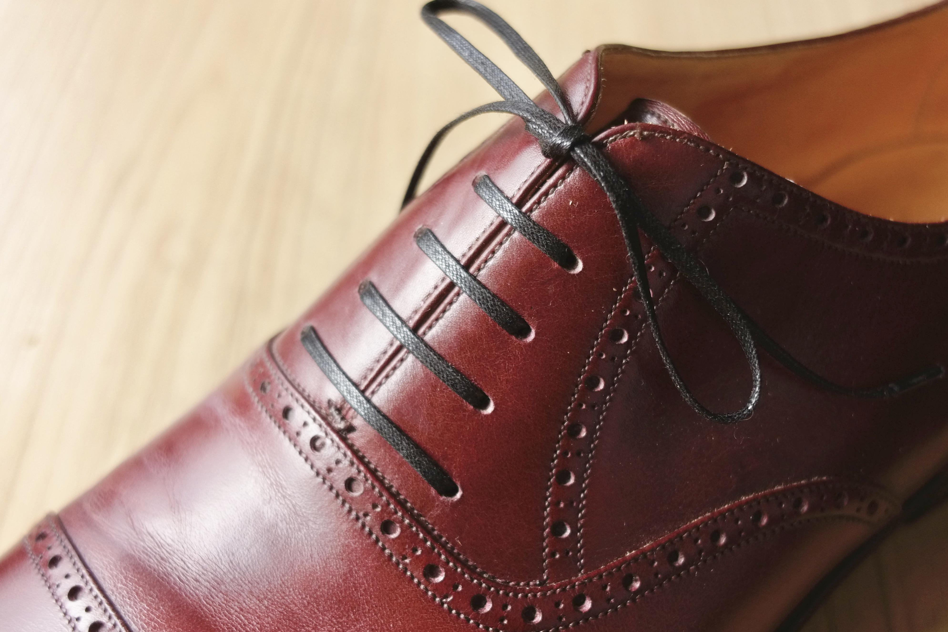 通し 方 紐 靴